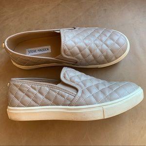 Steve Madden ECENTRCQ Grey Slip-On Sneakers